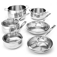 Macy's Belgique Stainless Steel 10 Piece Exclusive Cookware Set C
