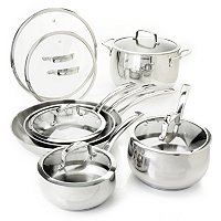 Macy's Belgique Stainless Steel 12 Piece Exclusive Cookware Set D
