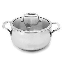 Macy's Belgique Stainless Steel 4 Quart Covered Casserole