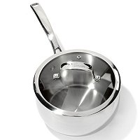 Macy's Belgique Stainless Steel Covered Sauce Pan