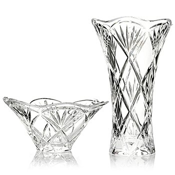 431-147 - Marquis® by Waterford® Honour Crystalline 10'' Vase & 8.5'' Bowl