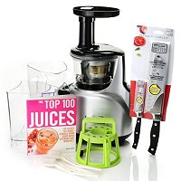 Kuvings Silent Masticating Juicer with Chicago Cutlery Knife and Juicing Book