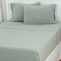 North Shore Linens Portuguese 100% Cotton Flannel Heather Sheet Set