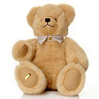 "LIMITED EDITION ""LITTLE SQUEAKER"" TEDDY BEAR W/ GOLD PLATED NUMBER PLATE"