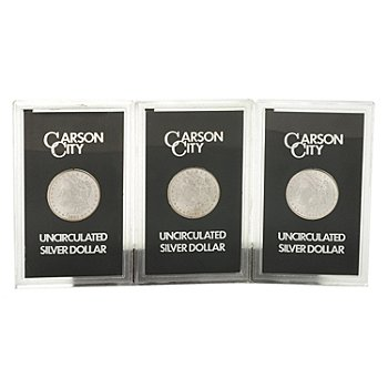 431-167 - 1882-1884 Silver BU GSA Carson City Morgan Dollar Three Coin Set