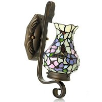 ISADORA STAINED GLASS WALL SCONCE