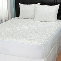Cozelle Jacquard Mattress Pad with Pillow Protector Pair