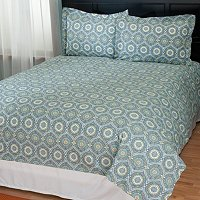"North Shore Linens ""Tracy"" Cotton 3pc Duvet Set"