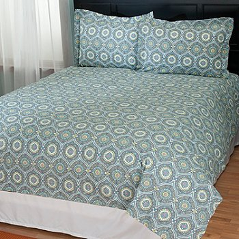 431-224 - North Shore Linens™ ''Tracy'' Cotton Three-Piece Duvet Set