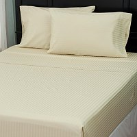 North Shore Linens 600TC Egyptian Cotton Damask Stripe Four-Piece Sheet Set