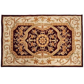 431-315 - Global Rug Gallery 5' x 8' or 8' x 10' Hand Tufted 100% Wool & Artisan Silk Rug