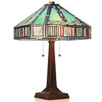 Marbelline Mission Style Stained Glass Table Lamp