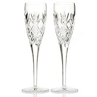 WATERFORD CRYSTAL SINEAD CHAMPAGNE FLUTE PAIR