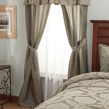 431-351 - North Shore Linens™ ''Jillian'' Four-Piece Window Set