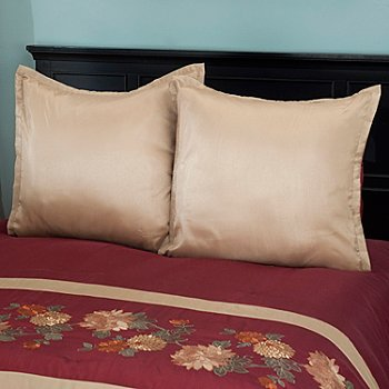 431-358 - North Shore Linens™ ''Mums'' Euro Sham Pair