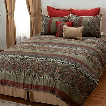 431-372 - North Shore Linens™ ''Terraza'' Eight-Piece Bedding Ensemble