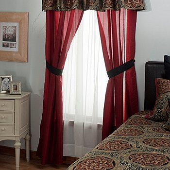 431-379 - North Shore Linens™ ''Nairobi'' Four-Piece Window Set