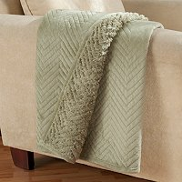 "Cozelle 50"" x 60"" Micromink and Sherpa Quilted Throw"