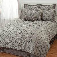 """Lucerne"" 8pc Jacquard Bedding Ensemble"