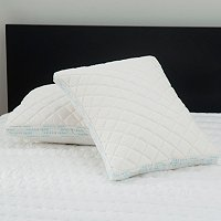 The Sharper Image Set of Two Memory Foam Pillow Protectors