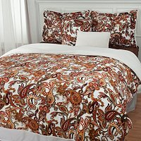 Paisley 5pc Plush Comforter Set