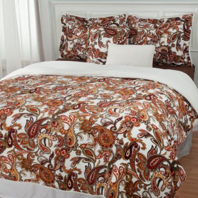 "431-399 - Cozelle® ""Paisley"" Microplush Five-Piece Comforter Set"