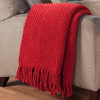 "Luxe Chenille 50"" x 60"" Twill Pattern Throw"