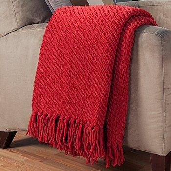 431-412 - North Shore Linens™ Chenille 60'' x 50'' Twill Pattern Throw