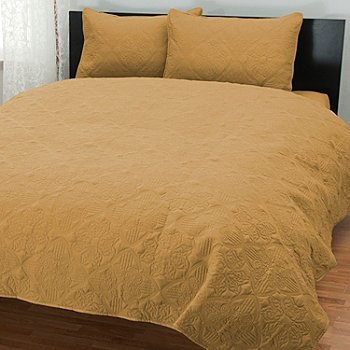 431-489 - Cozelle® ''Tripoli'' Quilted Three-Piece Coverlet Set