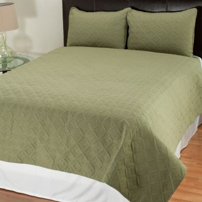 "431-491 - Cozelle® ""Pinwheel"" Quilted Three-Piece Coverlet Set"