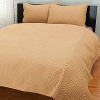 """Burst"" Quilted 3pc Coverlet Set"