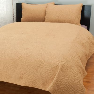 "431-497 - Cozelle® ""Burst"" Quilted Three-Piece Coverlet Set"