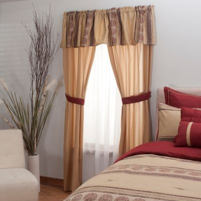"431-501 - North Shore Linens™ ""Westbrooke"" Five-Piece Window Set"
