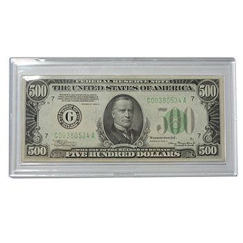 431-514 - 1928 or 1934 US $500-Dollar Bill
