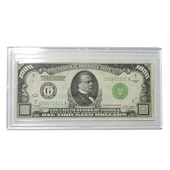 431-522 - 1928 or 1934 US $1000-Dollar Bill