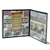 CIVIL WAR 150TH ANNIVERSAR CURRENCY AND STAMP COLLECTION