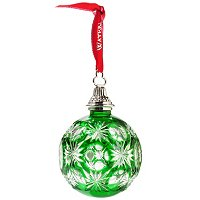 WATERFORD CRYSTAL 2012 EMERALD CASED BALL ORNAMENT