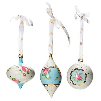 431-553 - Royal Albert® Polka Blue Set of Three Ornaments