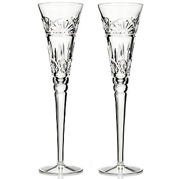 431-562 - Waterford® Crystal Lismore 6 oz Set of Two Toasting Flutes - Signed by Jim O'Leary