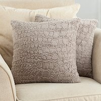 "Allie Textured Set of Two 18"" x 18"" Faux Fur Pillows"