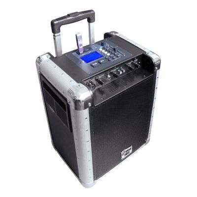 431-673 - Pyle Battery Powered Portable PA System w/ USB/SD, DJ Controls & Aux Inputs
