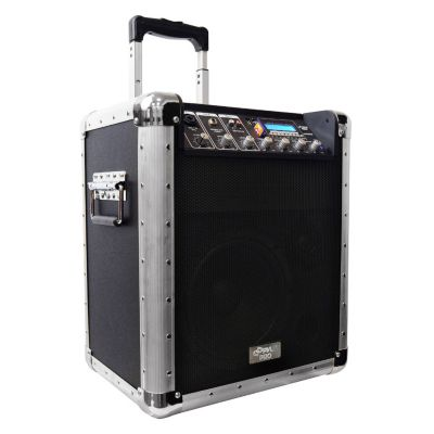 431-674 - Pyle Battery Powered Portable PA System w/ USB/SD/MP3 Inputs & Microphone