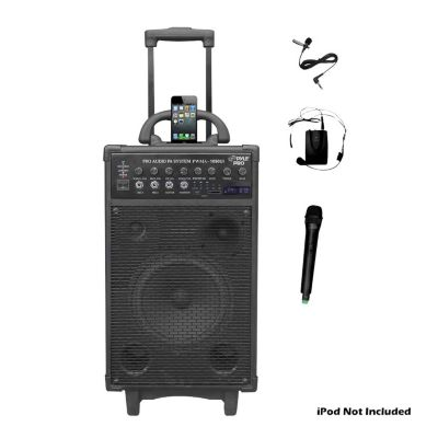431-675 - Pyle 800 Watt Dual Channel Wireless Portable PA System w/ iPod/iPhone Dock