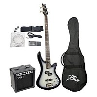 Pyle Professional Full Size Electric Bass Guitar Package w/ Amplifier