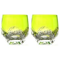 WATERFORD CRYSTAL MIXOLOGY TALON RED DOUBLE OLD FASHION PAIR