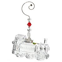 WATERFORD CRYSTAL CVICTORIAN TRAIN ENGINE ORNAMENT