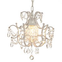 GALLERY MINI WROUGHT IRON CRYSTAL CHANDELIER
