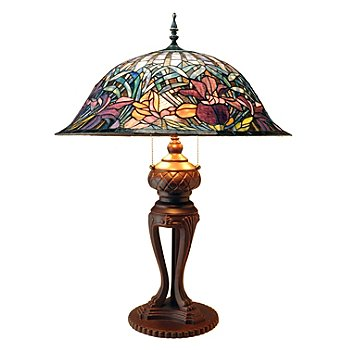 431-818 - Tiffany-Style 32.5'' Chandral Stained Glass Table Lamp