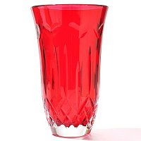 "WATERFORD CRYSTAL I LOVE LISMORE RED 8"" VASE"