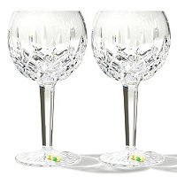 WATERFORD CRYSTAL CLASSIC LISMORE GLASSWARE PAIR